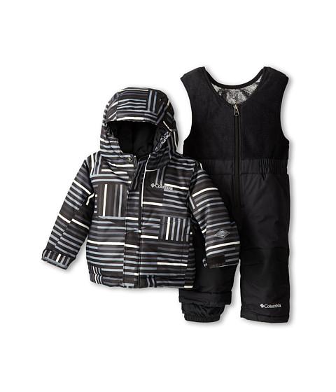 Columbia Kids - Buga Set (Infant/Toddler) (Black Square Print/Black) Kid's Active Sets