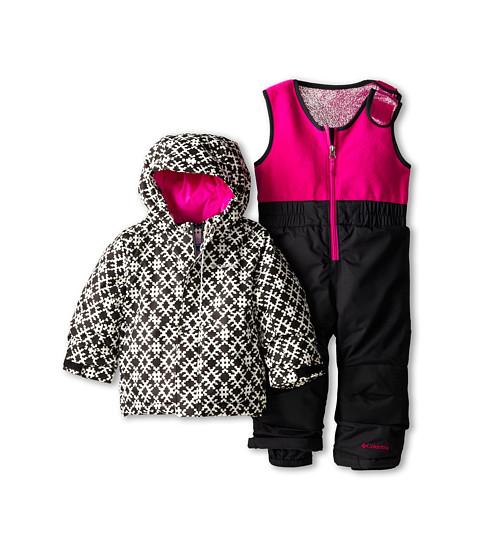 Columbia Kids - Buga Set (Infant/Toddler) (Black Print/Black/Groovy Pink) Kid's Active Sets
