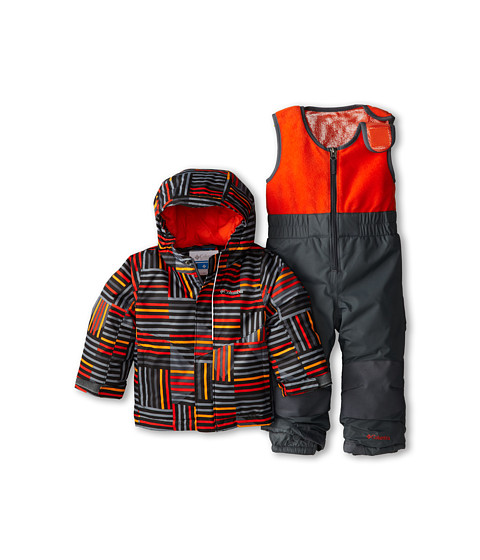 Columbia Kids - Buga Set (Infant/Toddler) (Graphite Print/Graphite/State Orange) Kid's Active Sets