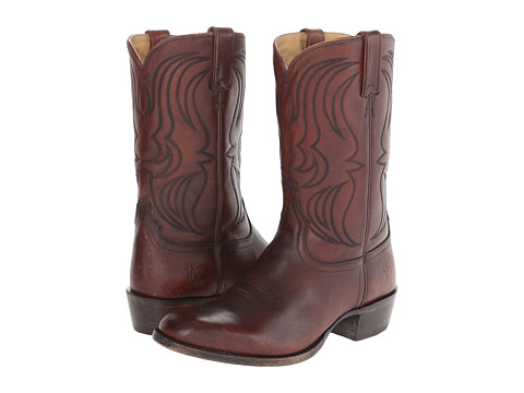 Frye - Daniel Flame Stitch (Whiskey Polished Stonewash) Cowboy Boots