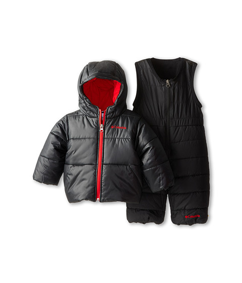 Columbia Kids - Bright Snow Set (Infant/Toddler) (Black/Bright Red) Kid's Active Sets