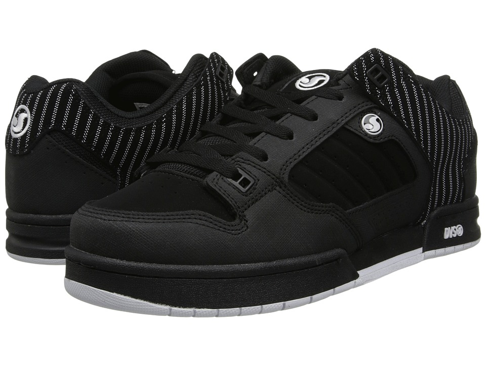 DVS Shoe Company - Militia (Black Nubuck/Pinstripes) Men's Skate Shoes