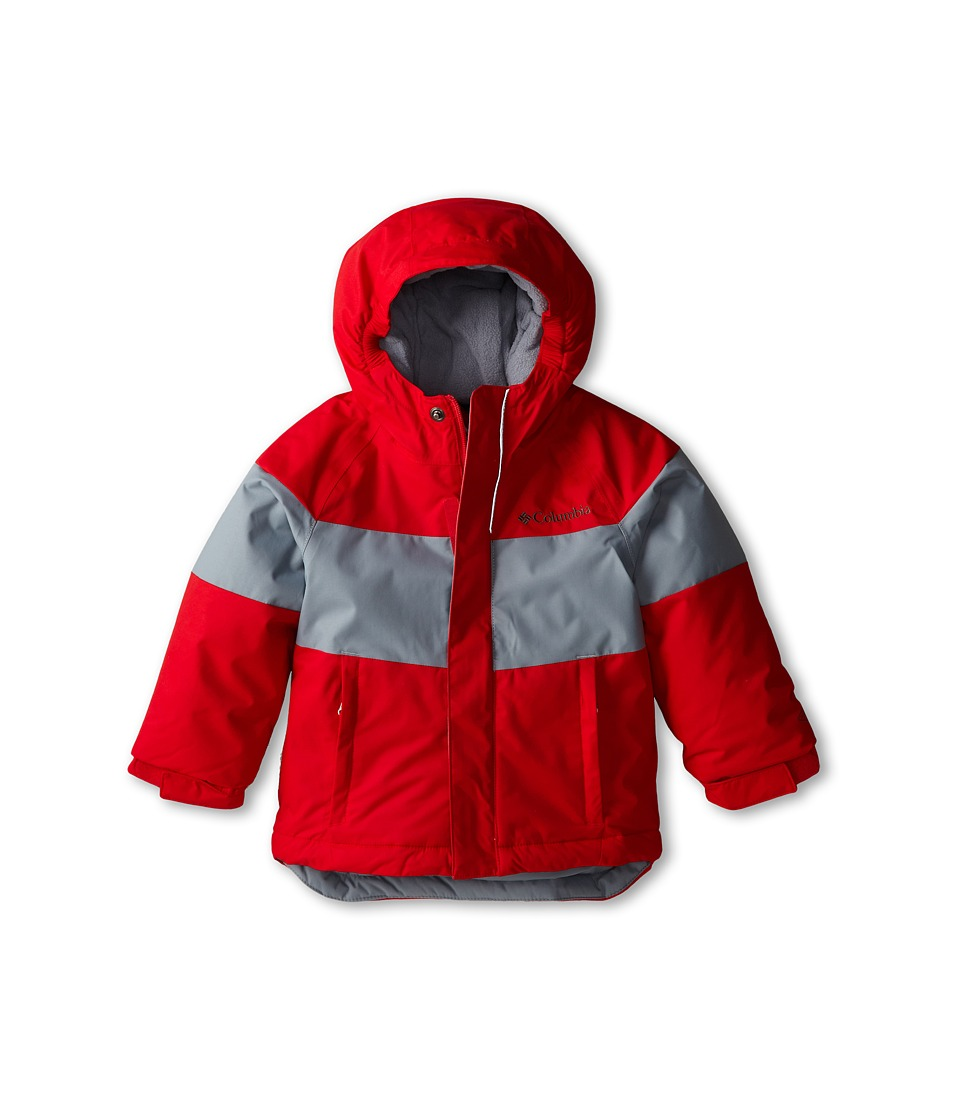 Columbia Kids - Alpine Action Jacket (Toddler) (Bright Red/Tradewinds Grey) Boy's Coat