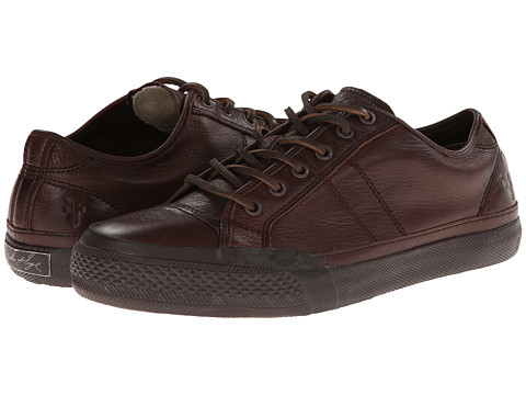 Frye - Greene Low Lace (Dark Brown Dipped Soft Vintage) Men