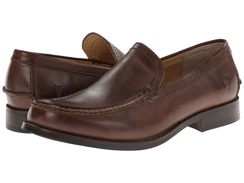 Frye - Greg Venetian (Brown Antique) Men's Slip on Shoes