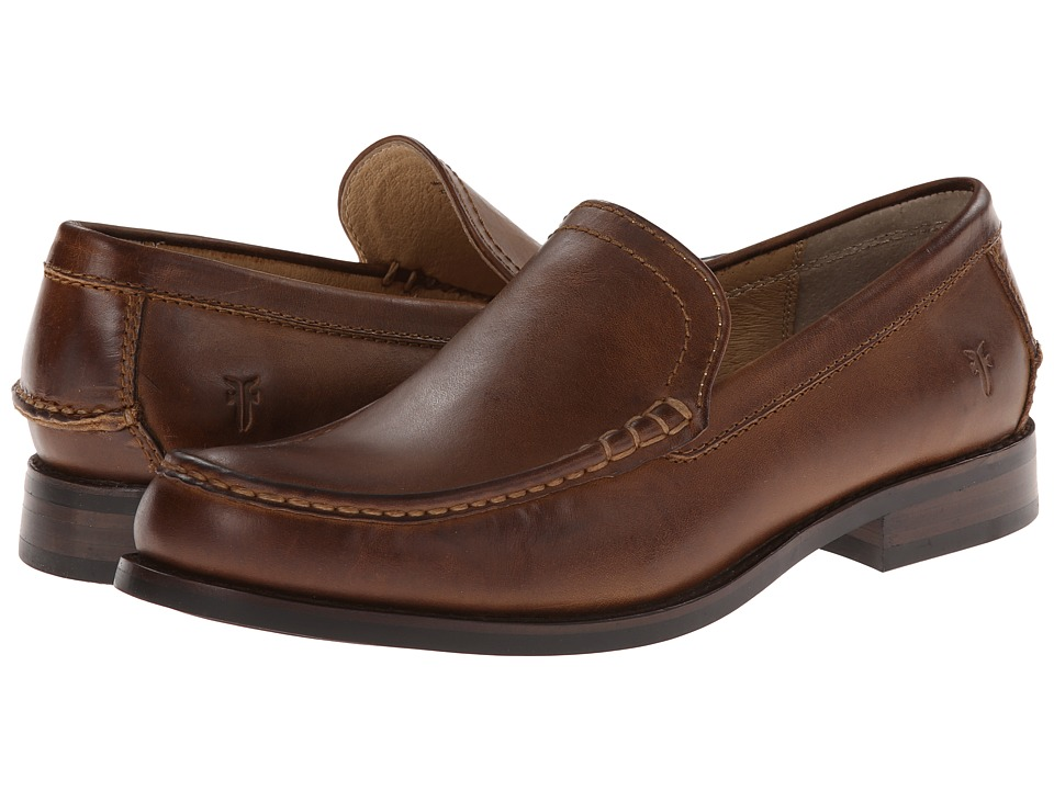 Frye - Greg Venetian (Tan Antique) Men's Slip on Shoes