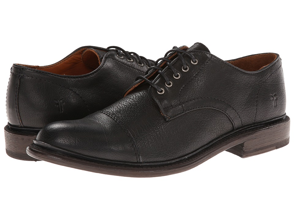 Frye Jack Oxford (Black Buffalo Leather) Men