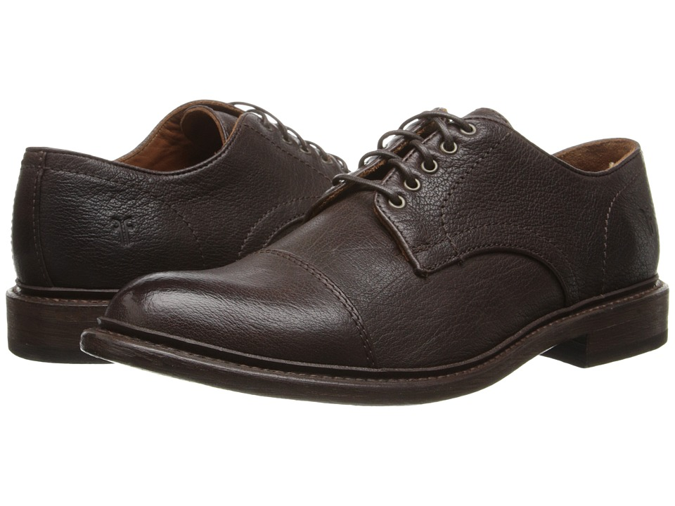 Frye - Jack Oxford (Dark Brown Buffalo Leather) Men's Lace up casual Shoes