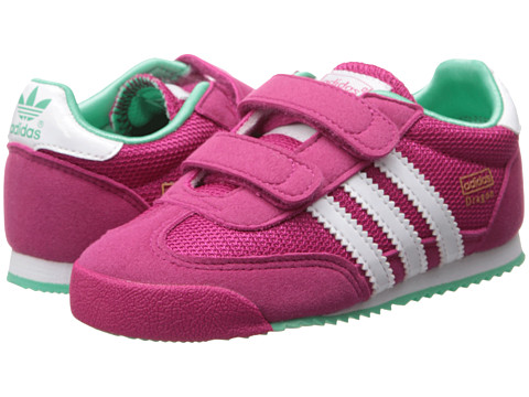 adidas Originals Kids - Dragon (Toddler) (Bold Pink/Core White/Solo Mint) Girls Shoes