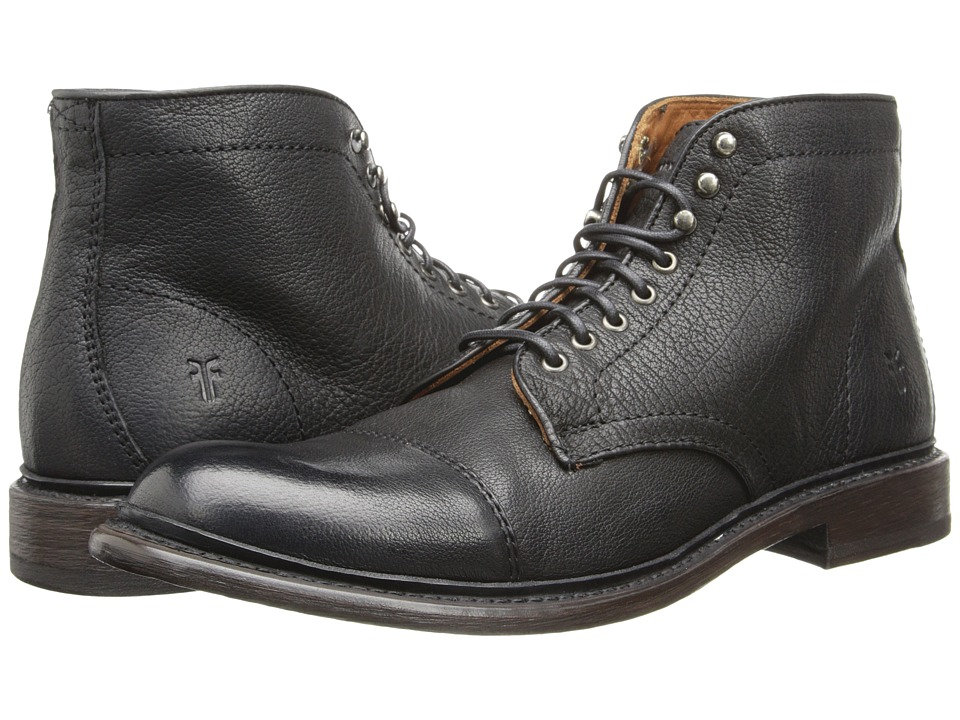 Frye - Jack Lace Up (Black Buffalo Leather) Men's Lace-up Boots