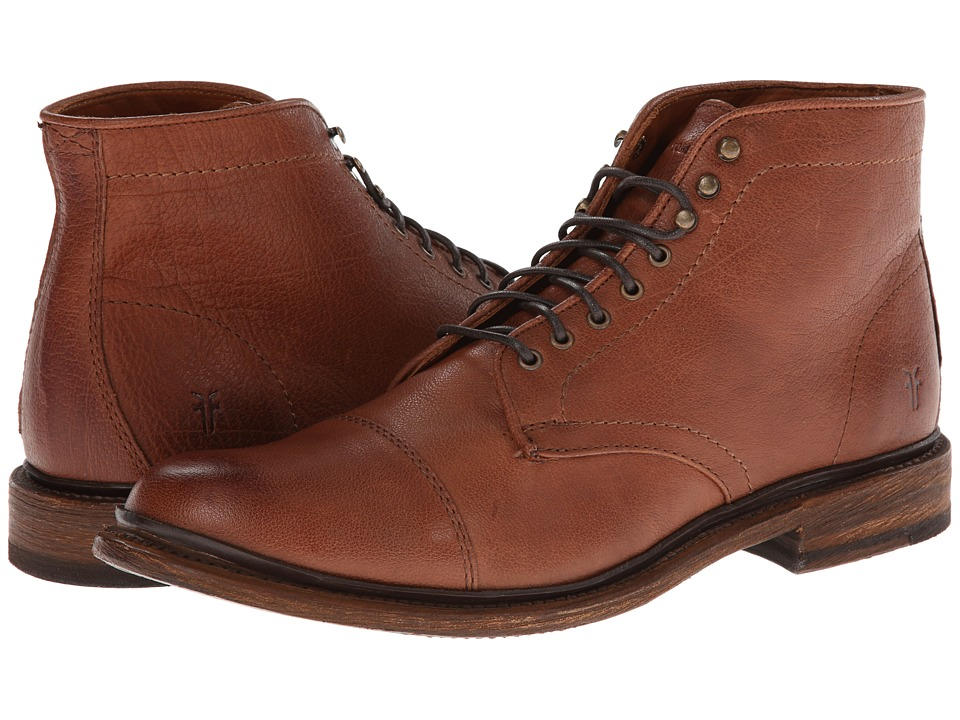 Frye Jack Lace Up (Whiskey Buffalo Leather) Men
