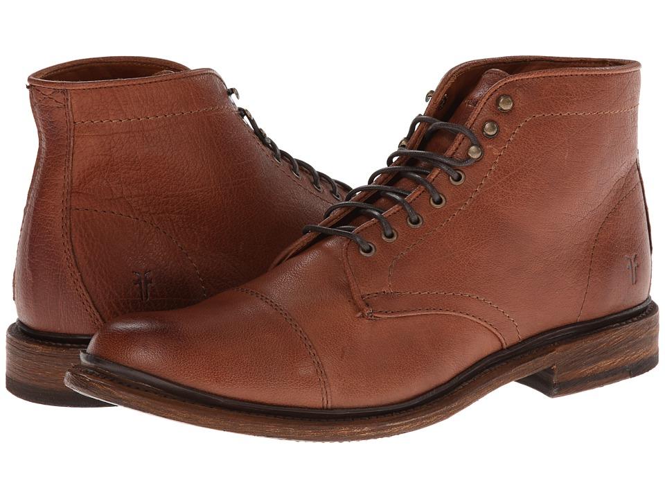 Frye Jack Lace Up Whiskey Buffalo Leather Mens Lace-up Boots
