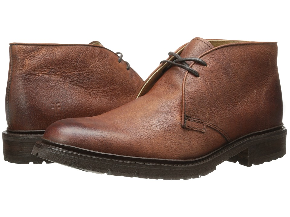 Frye James Lug Chukka (Whiskey Hammered Full Grain) Men