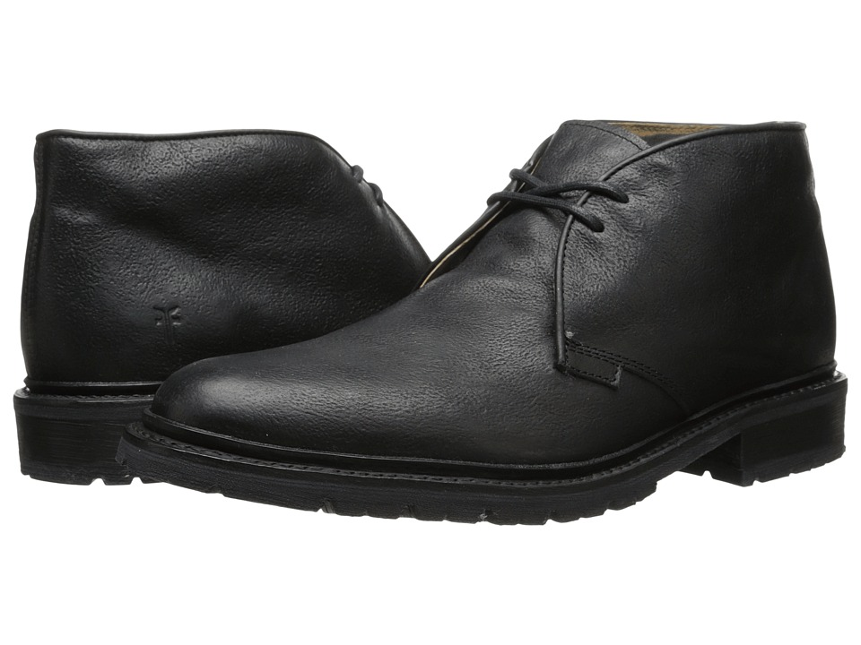 Frye James Lug Chukka (Black Hammered Full Grain) Men