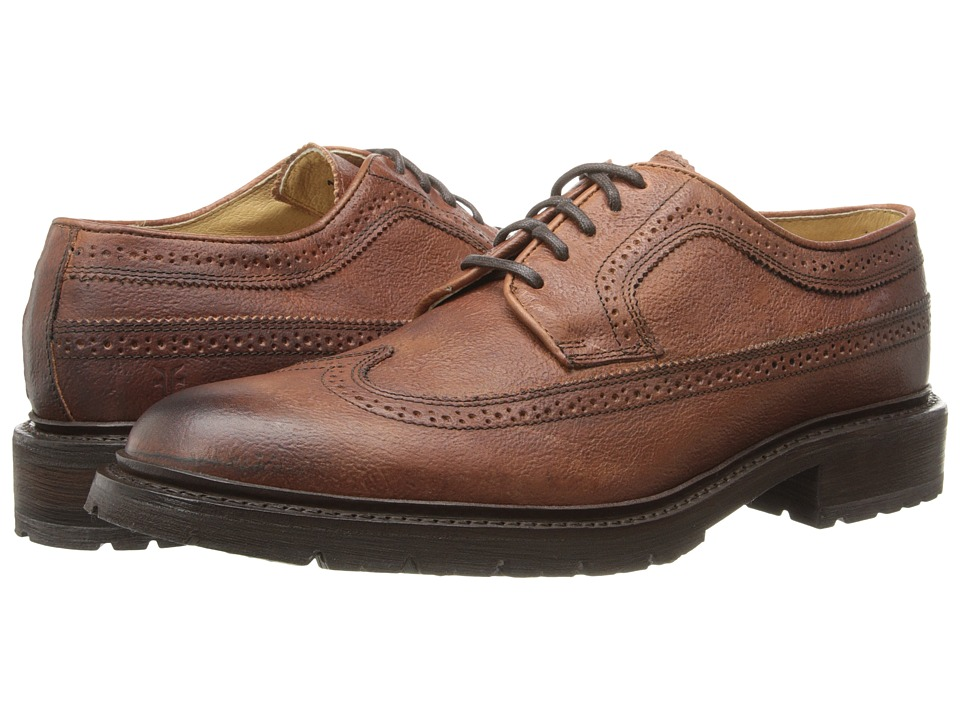 Frye - James Lug Wingtip (Whiskey Hammered Full Grain) Men's Lace Up Wing Tip Shoes