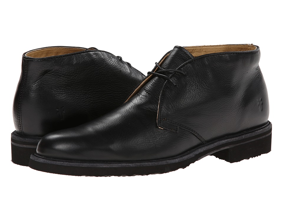 Frye - Jim Chukka (Black Soft Vintage Leather) Men