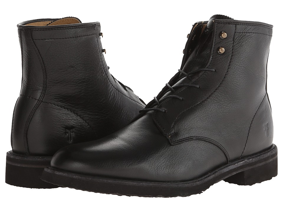 Frye - Jim Lace Up (Black Soft Vintage Leather) Men