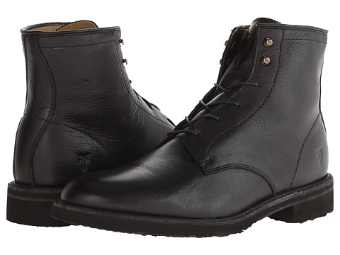 Frye - Jim Lace Up (Black Soft Vintage Leather) Men's Lace-up Boots