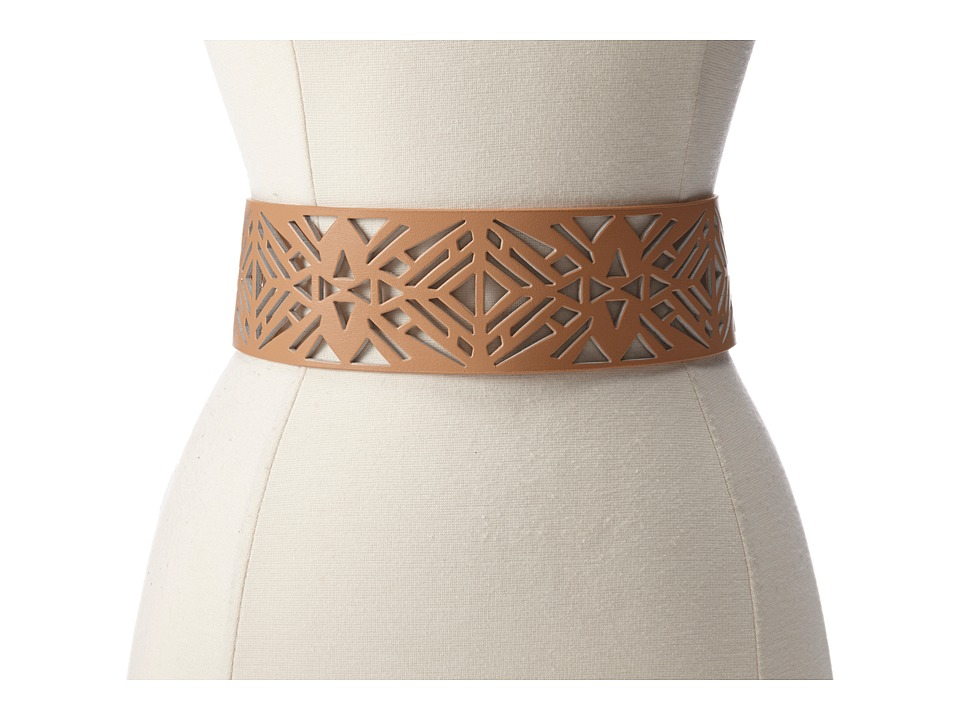 Vince Camuto - 63MM Perforated Belt (Natural) Women's Belts