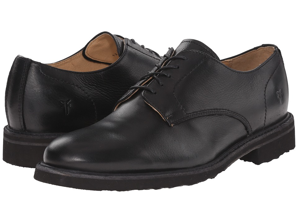 Frye Jim Oxford (Black Soft Vintage Leather) Men