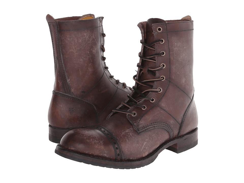 Frye Logan Jump Boot (Dark Brown Polished Stonewash) Men'...