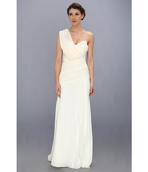Nicole Miller - Georgette Draped Bridal Gown (Ivory) Women's Dress