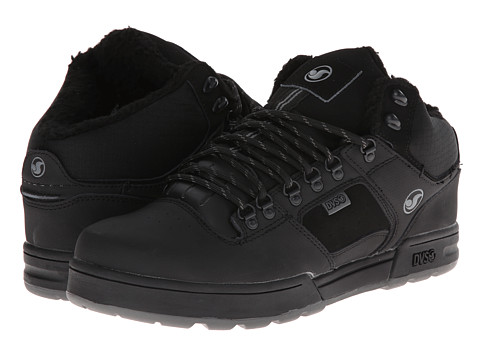 DVS Shoe Company - Westridge Snow (Black/Grey Leather Snow) Men