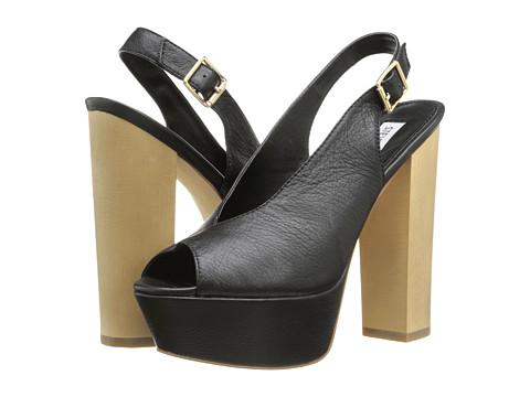 Steve Madden - Skinny (Black Leather) High Heels
