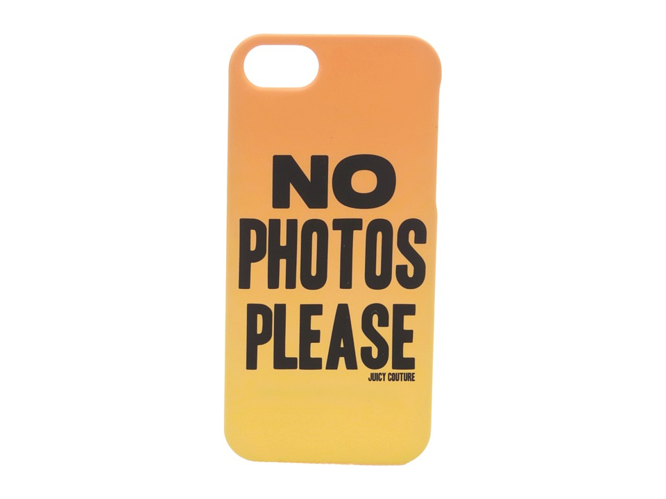 Juicy Couture - No Photos Please Case for iPhone 5 (Sunlit) Cell Phone Case
