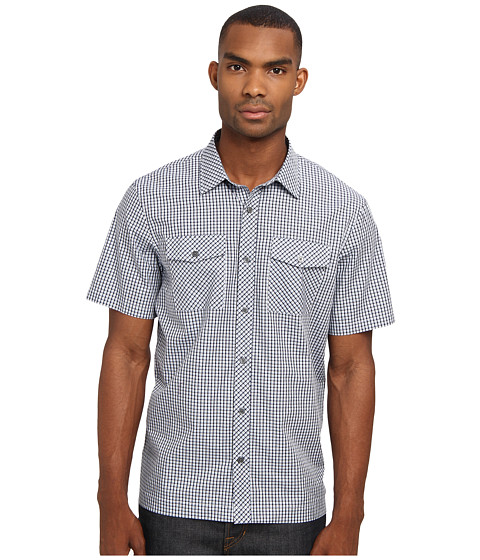 Michael Kors - Richard Chk S/S Shirt (Powder Blue) Men