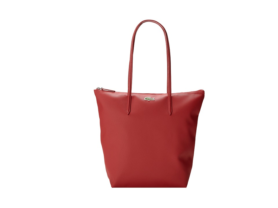 Lacoste - L.12.12 Concept M1 Vertical Tote Bag (Paprika Red) Tote Handbags