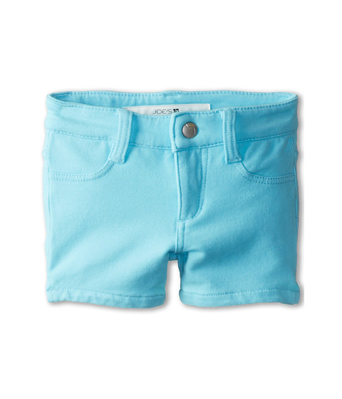 Joe's Jeans Kids - Neon French Terry 3 Mini Short w/ Side Slits in Neon Blue (Toddler/Little Kids) (Neon Blue) Girl's Shorts