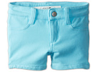 Joe's Jeans Kids Neon French Terry 3 Mini Short w/ Side Slits (Toddler/Little Kids) (Neon Blue)