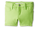 Joe's Jeans Kids Neon French Terry 3 Mini Short w/ Side Slits (Toddler/Little Kids) (Neon Green)