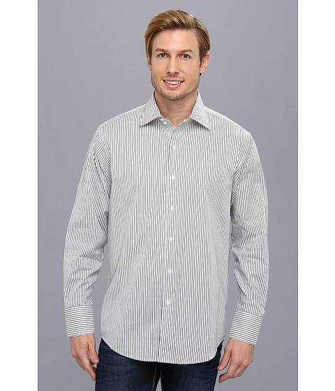 Culture Phit - Thomas Casual Shirt - Relaxed (Grey Stripe) Men