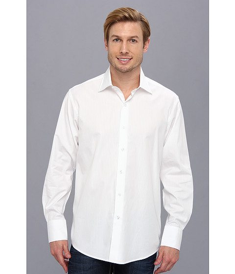 Culture Phit - Thomas Casual Shirt - Relaxed (White) Men's Long Sleeve Button Up