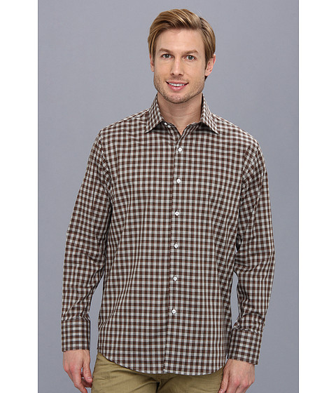 Culture Phit - Thomas Casual Shirt - Relaxed (Brown Multi) Men's Long Sleeve Button Up
