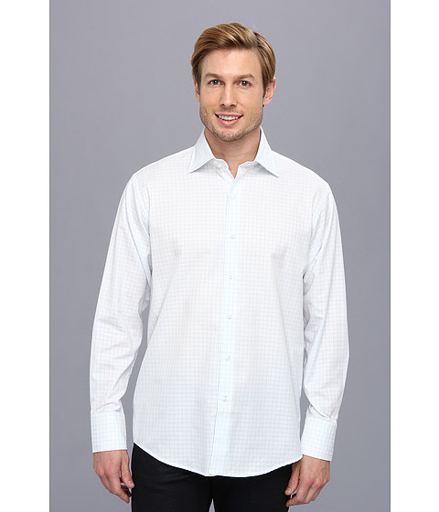 Culture Phit - Thomas Casual Shirt - Relaxed (Blue Check) Men's Long Sleeve Button Up