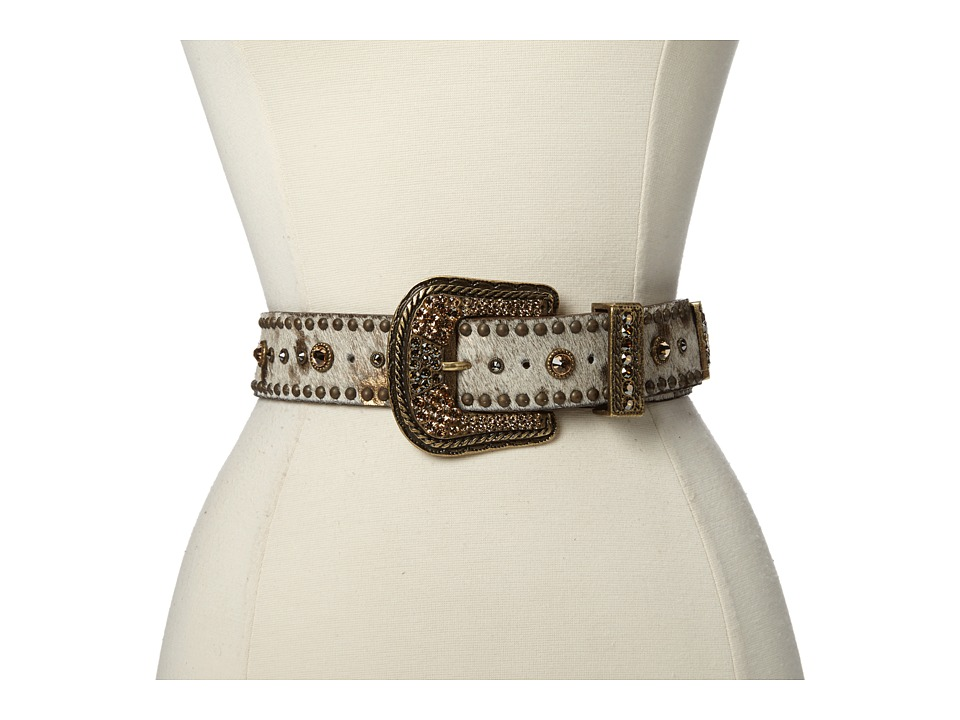 Leatherock - 1010 (White/Bronze) Women's Belts
