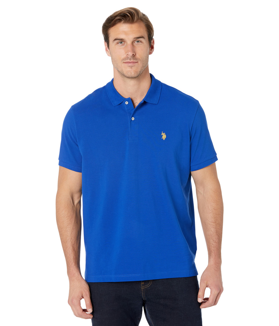 U.S. POLO ASSN. - Solid Cotton Pique Polo with Small Pony (Cobalt Blue) Men's Short Sleeve Knit