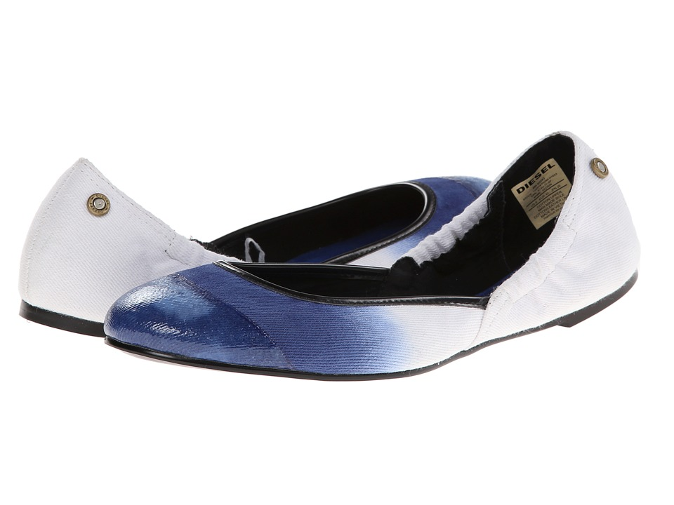 Diesel - Pointy Closin (Blue) Women's Flat Shoes