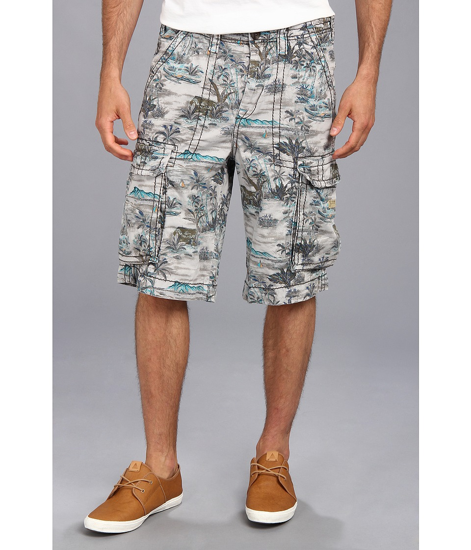 True Religion - Pacific Island Cargo Isaac Big T Short (Pacific Palm) Men's Shorts