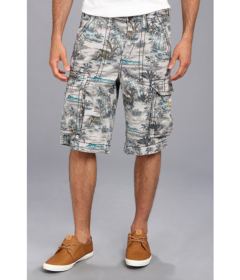 True Religion - Pacific Island Cargo Isaac Big T Short (Pacific Palm) Men