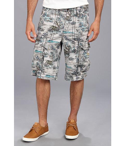 True Religion - Pacific Island Cargo Isaac Big T Short (Pacific Palm) Men