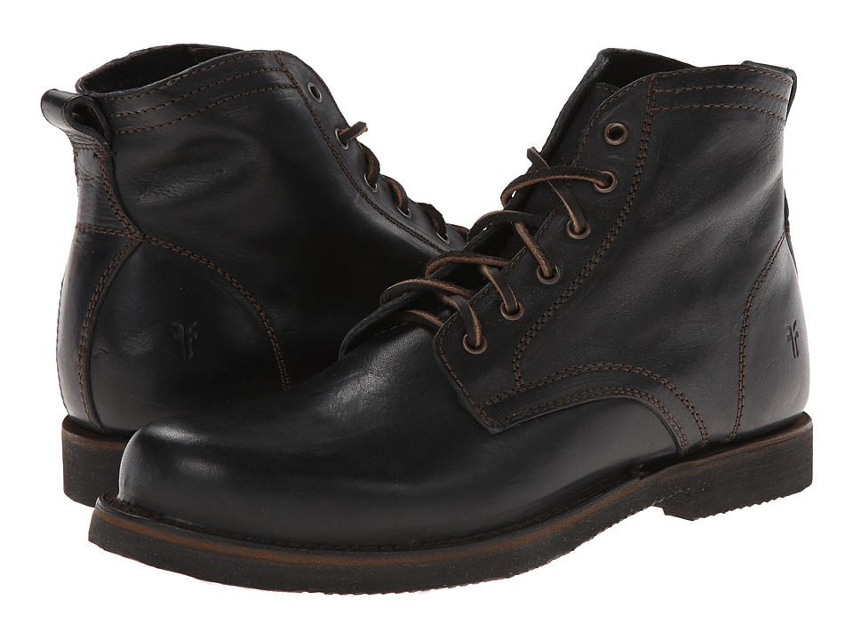 Frye - Roland Lace Up (Black Antique) Men's Lace-up Boots