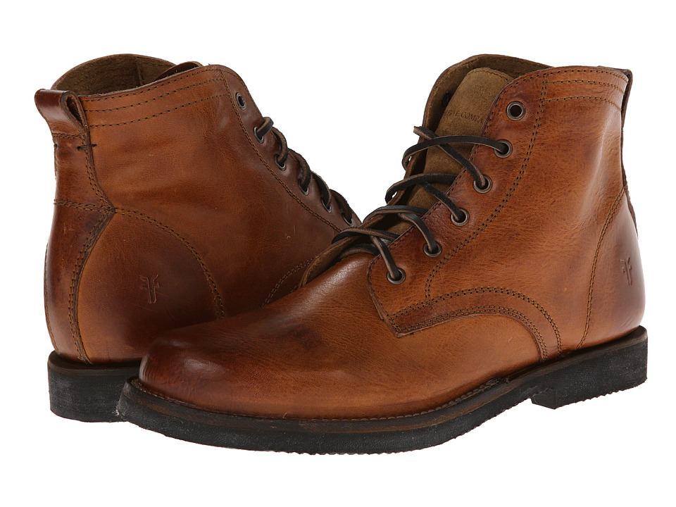 Frye - Roland Lace Up (Camel Antique) Men's Lace-up Boots