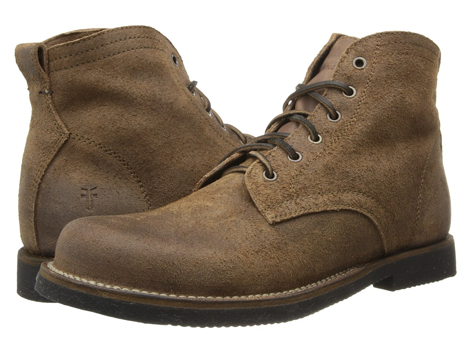 Frye Roland Lace Up (Tan Waxed Suede) Men