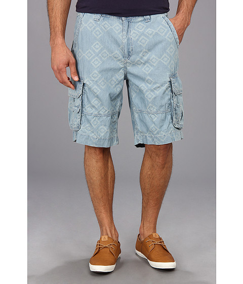 True Religion - Excursion Cargo Short Diamond Jacquard Denim (Indigo Diamond Jacquard) Men