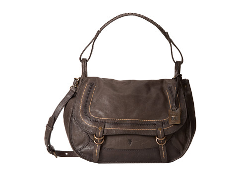 Frye - Anna Ring Hobo (Charcoal Hammered Full Grain) Cross Body Handbags