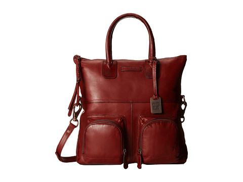 Frye - Jenny Fold Over (Burnt Red Soft Vintage Leather) Handbags